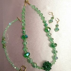 Swarovski Crystal; Natural Gemstones; Jewelry Sets